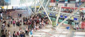 olbia flygplats sardinien panorama 300x130 - Costa Smeralda Airport, Olbia, Sardinia, Italy - July 14, 2018: Hall of Costa Smeralda Airport in Ol
